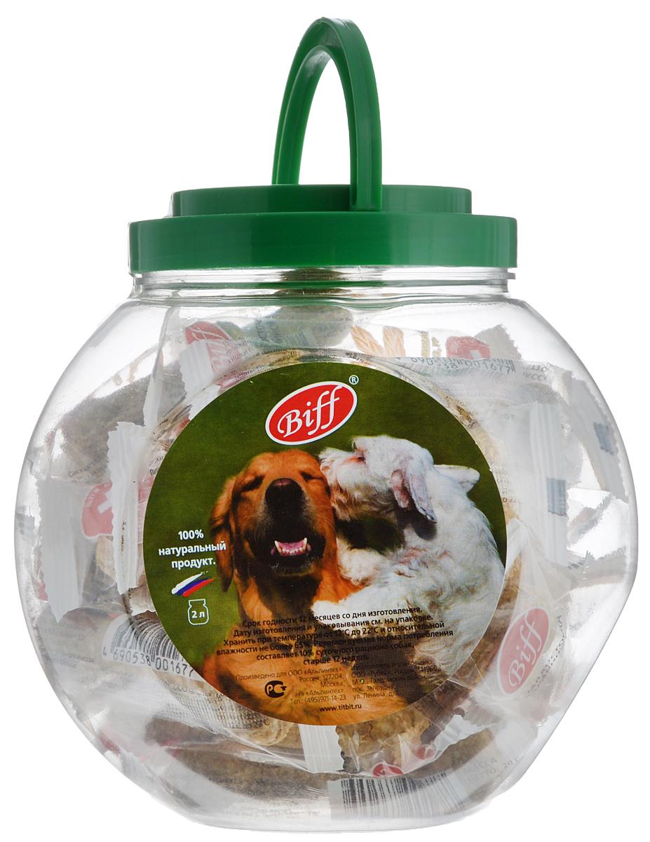Лакомство для собак Titbit Biff, мясная косточка с бараниной, 2 л1714Лакомство для собак Titbit Biff - идеальное лакомство для собак с повышенной активностью. Баранина является источником полноценных белков, содержит минеральные вещества и витамины, (В1, В2, РР). Дрожжи - груполипропиленовый пакета одноклеточных грибов различных классов. Они содержат высококачественный белок и углеводы, а также витамины груполипропиленовый пакеты В и способствуют повышению эффективности пищеварения, так как служат прекрасной питательной средой для развития нормальной желудочной микрофлоры.Состав: кожа говяжья - 35%, мясо баранье - 15%, кукуруза - 13%, отруби - 12%, желудок говяжий - 9%, мясо-костная мука - 7%, кишки говяжьи - 6%, пивные дрожжи - 3%.Товар сертифицирован.