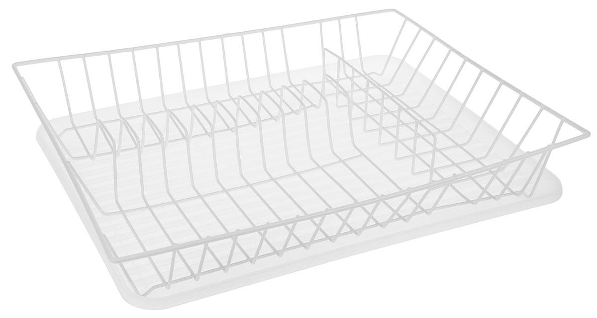 Сушилка для посуды Walmer, с поддоном, цвет: прозрачный, белый, 43,5 x 33,5 x 8 смW14433088Сушилка Walmer, изготовленная из стали, представляет собой решетку с ячейками для посуды. Изделие оснащено пластиковым поддоном для стекания воды. Сушилка не займет много места на вашей кухне. Вы сможете разместить на ней большое количество предметов. Компактные размеры и оригинальный дизайн выделяют эту сушилку из ряда подобных.Размер сушилки: 43,5 х 33,5 х 8 см.Размер поддона: 43 х 32,5 х 2,5 см.