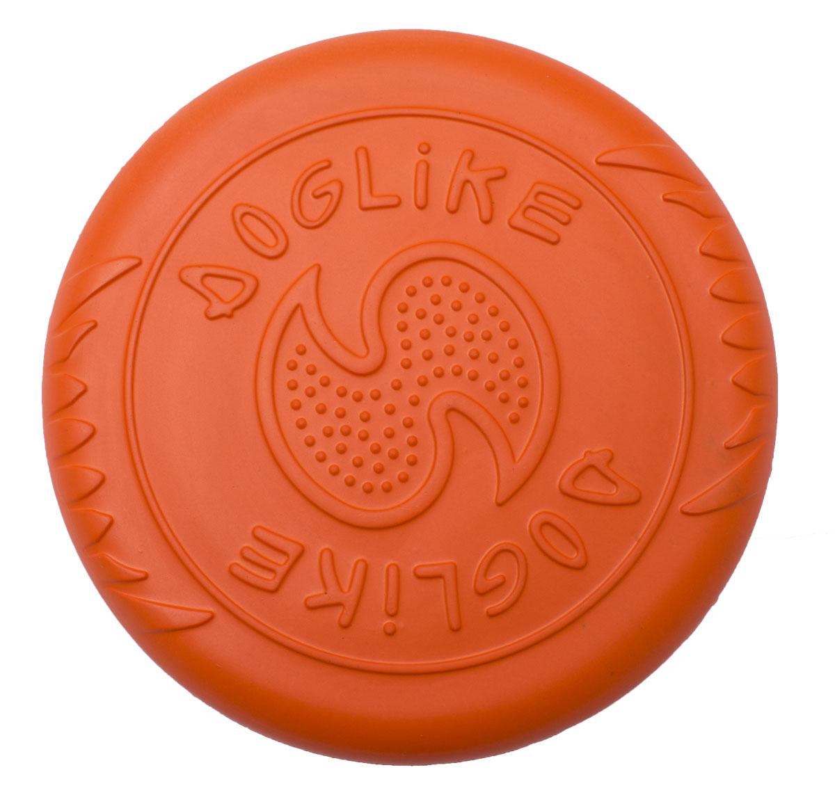 Игрушка для собак Doglike Тарелка летающая, цвет: оранжевый, диаметр 25 см тарелка elff decor терра цвет оранжевый диаметр 21 см