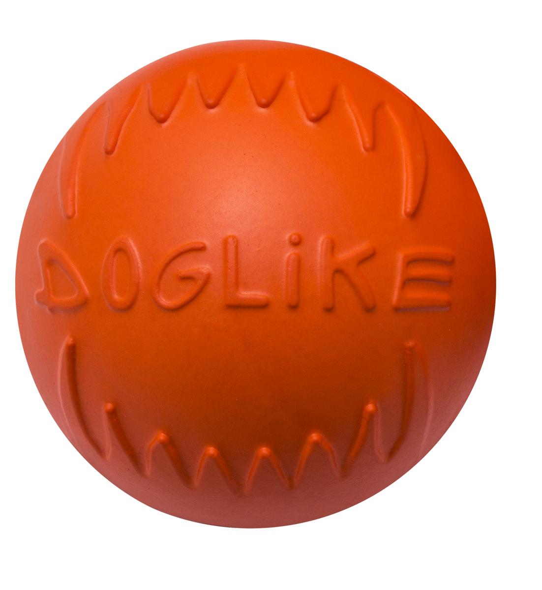 """Фото Игрушка для собак Doglike """"Мяч"""", цвет: оранжевый, диаметр 6,5 см"""