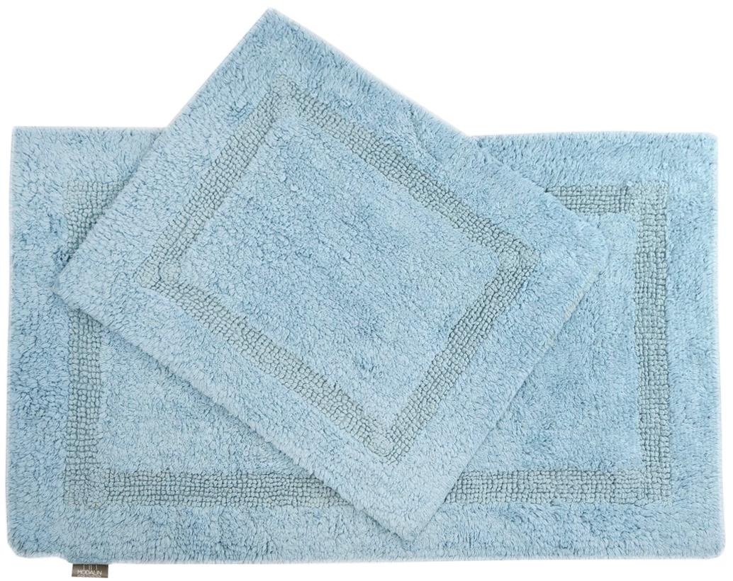 Набор ковриков для ванной Modalin Karla, цвет: голубой, 2 шт5027/CHAR003Набор Modalin Karla, выполненный из высококачественного хлопка, состоит из двух ковриков для ванной комнаты. Изделия добавят тепло и уют, а также внесут неповторимый колорит в интерьер ванной комнаты. Высокая износостойкость ковриков и стойкость цвета позволит вам наслаждаться покупкой долгие годы. Размер большего коврика: 60 х 100 см.Размер малого коврика: 60 х 50 см.