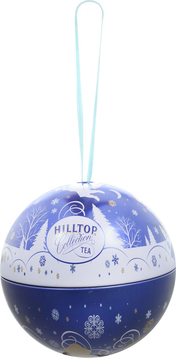 Hilltop Новогодний Шар Снежный ангел Молочный оолонг ароматизированный листовой чай, 80 г чай зеленый листовой мастер тим плэже оолонг молочный 100 г
