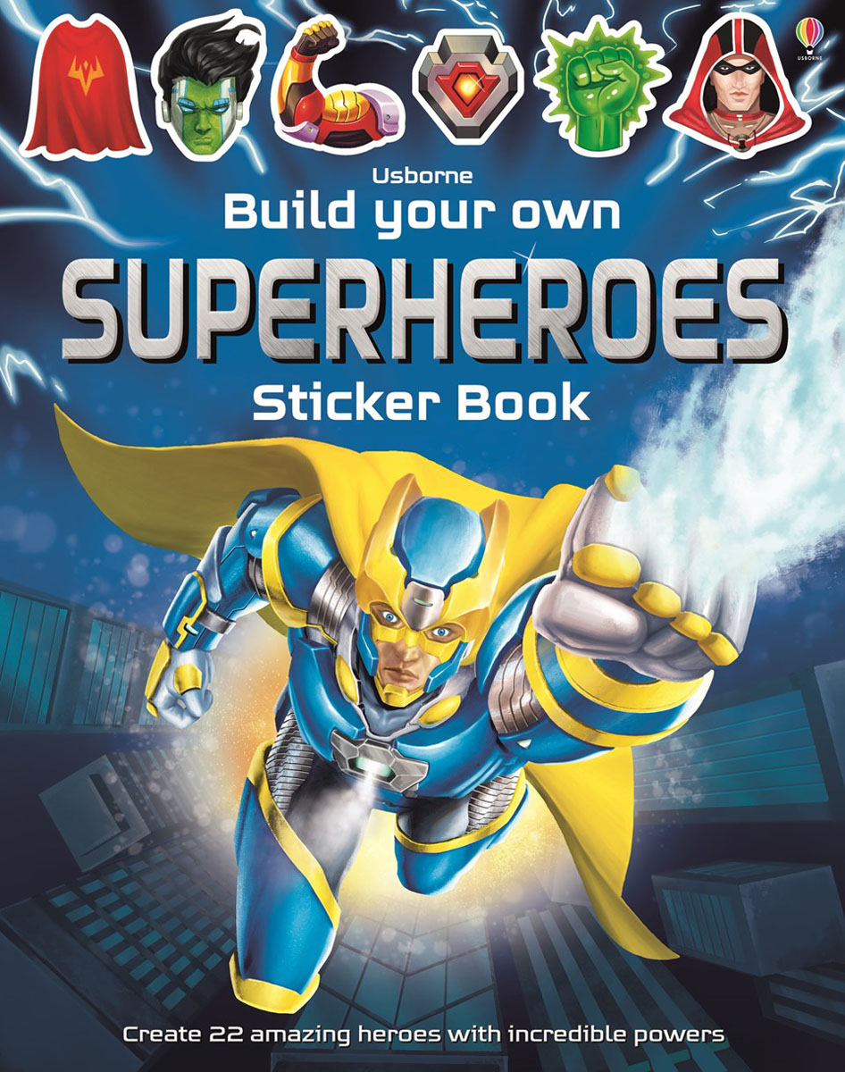 Build Your Own Superheroes Sticker Book write your own book
