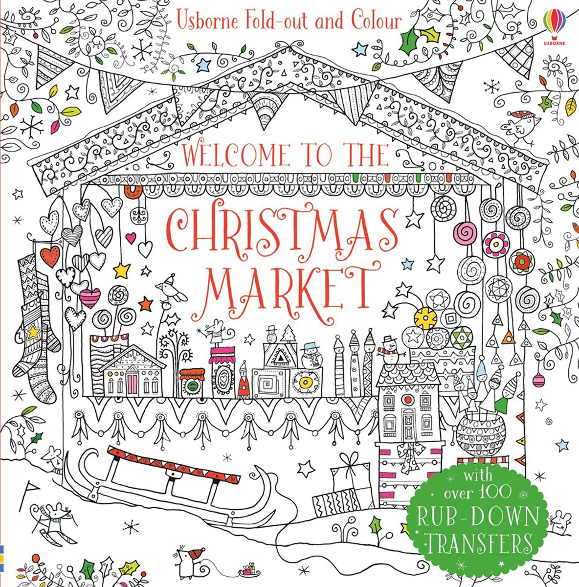 Welcome to the Christmas market christmas wonderland to colour