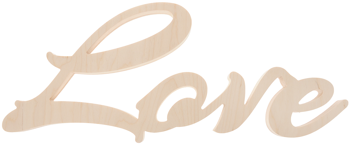 Табличка декоративная Magellanno Love1, некрашеная, 48 х 21 см номерные таблички esschert design табличка 3 арт hs003 тм esschert design