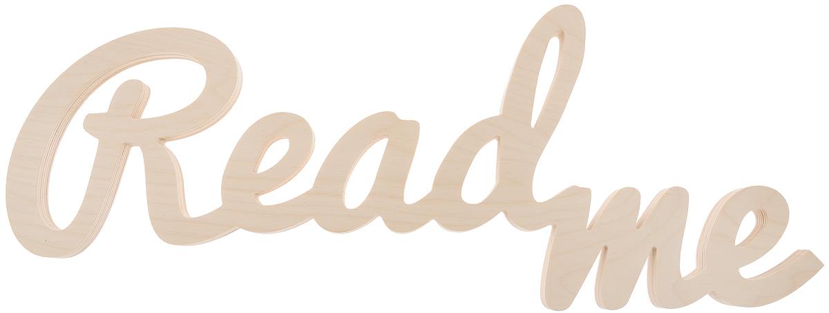 """Декоративная табличка Magellanno """"ReadMe2"""", выполненная из фанеры, идеально подойдет к интерьерам в стиле лофт, прованс, шебби-шик, тем самым украсив любую комнату в вашем доме. Именно такие уютные и приятные мелочи позволяют называть пространство, ограниченное четырьмя стенами, домом. Также табличка Оранжевый Слоник """"ReadMe2"""" способна дополнить вашу фотосессию, придав ей оригинальности и смысла. Размер таблички: 61 х 23 см. Толщина таблички: 1,8 см."""