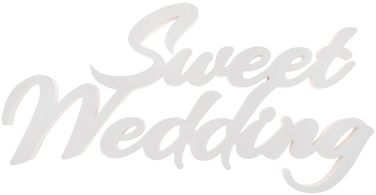 Табличка декоративная Magellanno Sweet Wedding, цвет: белый, 58 х 31 см номерные таблички esschert design табличка 3 арт hs003 тм esschert design