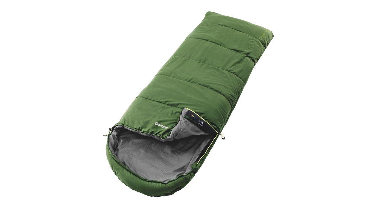 Спальный мешок Outwell Campion Lux, цвет: зеленый, 225 х 85 см230137Спальные мешки Outwell Campion Lux выполнены из трикотажного полиэстера. В спальнике в качестве наполнителя используется двойной слой Isofill. Снабженный всеми функциями, спальный мешок надежно прослужит вам не один год.Особенности:Комфортный капюшон.Защита молнии для тепла на полную длину.Внутренний карман для небольших вещей.Угловые петли крепления вкладыша.Компрессионный мешок.Защита от заедания молнии.
