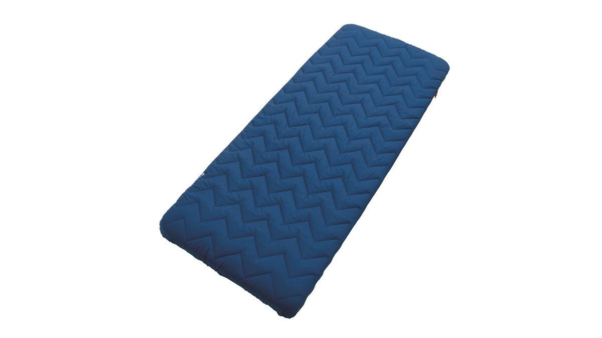Кровать надувная Outwell Cubitura Single, цвет: синий, 195 х 70 х 12 см290077Роскошная спальная кровать Outwell Cubitura Single – это инновации, обеспечивающие исключительный комфорт на природе. Сочетает в себе удобный самонадувающийся матрац со стеганым и ультра-мягким чехлом из микроволокна и мягкую поролоновую подушку (съемную). Термоизоляция и высокий уровень поддержки обеспечивают невероятный комфорт для прекрасного ночного сна.