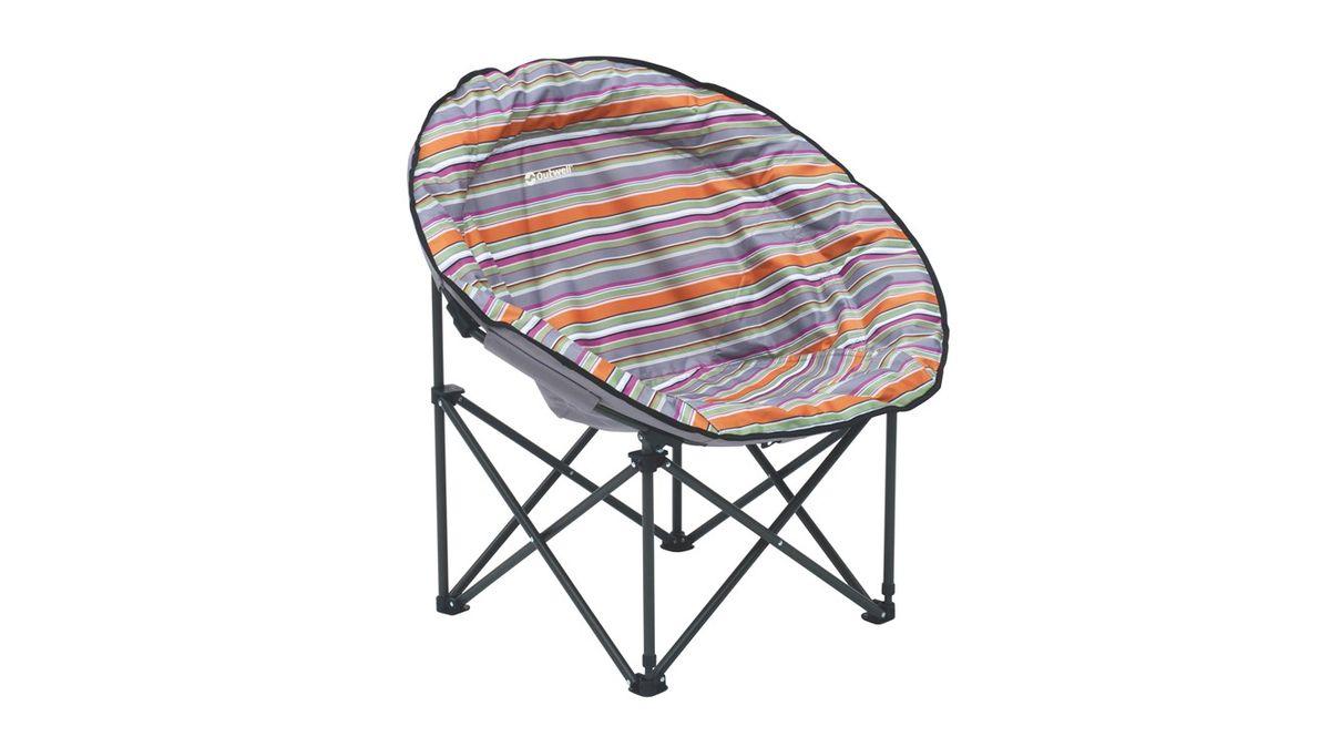 Кресло складное Outwell  Trelew Summer , цвет: серый, белый, оранжевый, 76 х 65 х 84 см