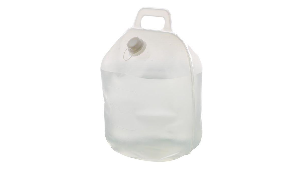 Емкость для воды Outwell Water Carrier, цвет: серый, 20 л650174Емкость для воды Outwell Water Carrier, изготовленная из прочного пластика, несомненно, пригодится вам во время путешествия. Заполняется канистра с помощью откручивающейся крышки. Для переноски сверху предусмотрена удобная ручка. При необходимости канистру можно сложить.