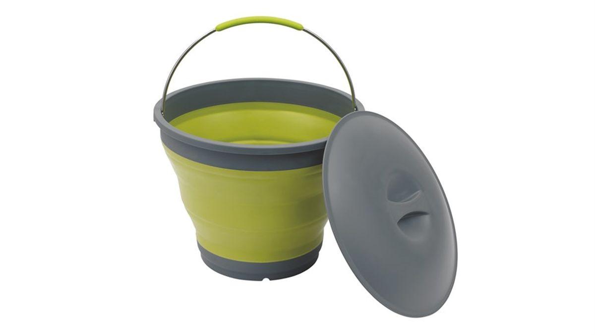 Ведро силиконовое Outwell Collaps Bucket, цвет: зеленый, 7,5 л650224Ведро складное Outwell Collaps Bucket w/lid в сложенном виде практически плоское. Противоударное, легко моется и складывается / раскладывается.
