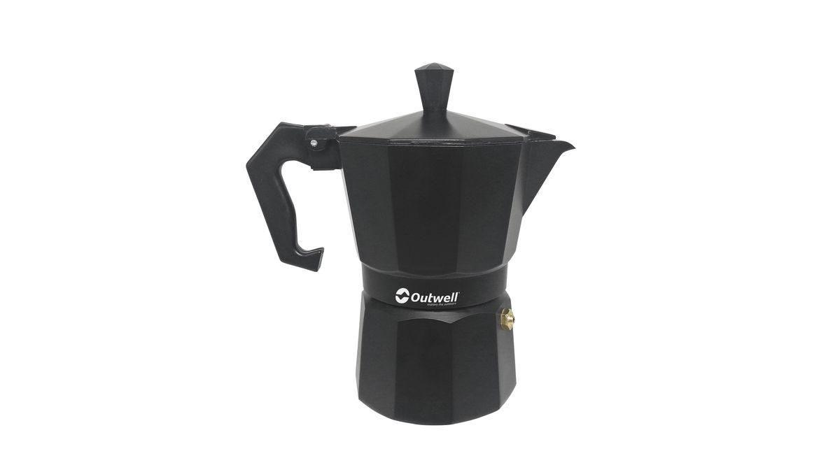 Кофеварка Outwell lava Espresso Maker, 2 чашки, цвет: черный650452Кофеварка Outwell Alava Espresso Maker 0.1L гейзерного типа для приготовления ароматного напитка в походных условиях на газовой плите. Рассчитана на 2 порции.