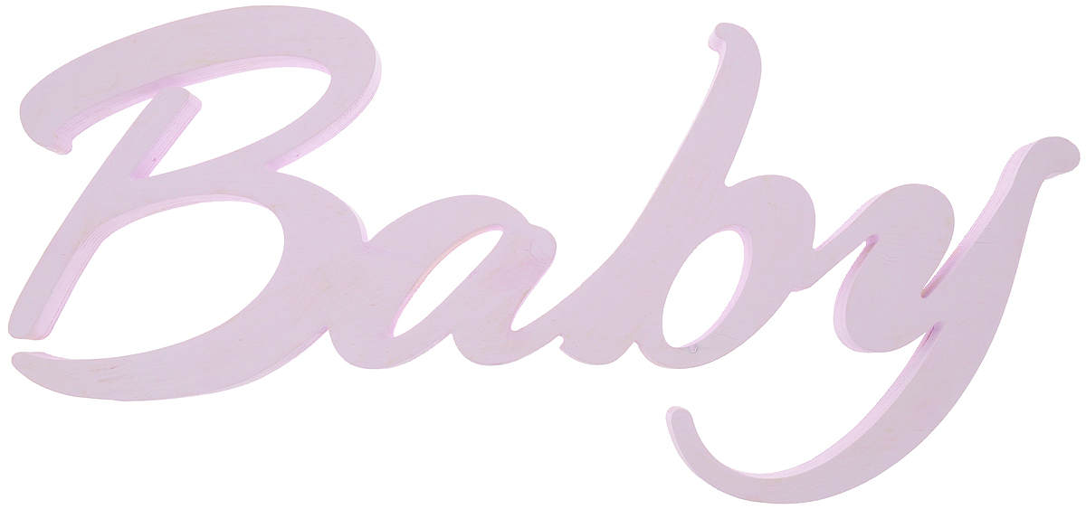 """Табличка декоративная Magellanno """"Baby"""", цвет: фиолетовый, 48 х 21 см"""