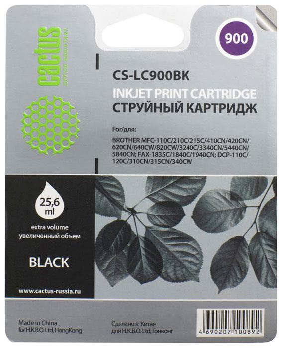 Cactus CS-LC900BK, Black картридж струйный для Brother DCP-110/115/120/MFC-210/215/FAX-1840CS-LC900BKКартридж Cactus CS-LC900BK для струйных принтеров Brother DCP-110/115/120/MFC-210/215/FAX-1840.Расходные материалы Cactus для струйной печати максимизируют характеристики принтера. Обеспечивают повышенную чёткость чёрного текста и плавность переходов оттенков серого цвета и полутонов, позволяют отображать мельчайшие детали изображения. Обеспечивают надежное качество печати.