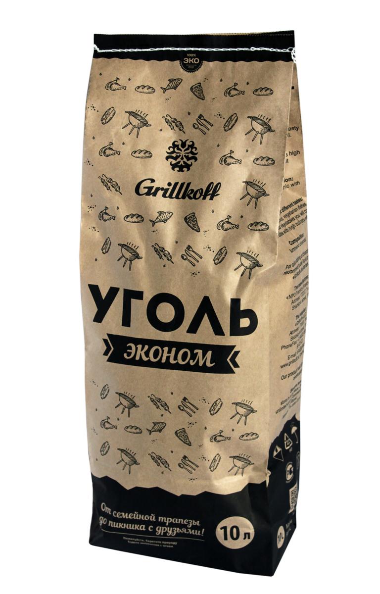 Уголь древесный для гриля Grillkoff Эконом, 10 л208Уголь древесный для гриля Эконом, пакет 10лДревесный уголь предназначен для быстрого и качественного приготовления разнообразных блюд в мангалах и гриля. Преимущество: Древесный уголь не дает пламени, обладает высокой теплоотдачей, не выделяет канцерогенных веществ. Любые идеи для любого случая: от семейной трапезы до пикника с друзьями, любые блюда на вкус: грили из мяса, рыбы, птицы, изысканные вегетарианские блюда и овощи Вы приготовите за считанные минуты с высоким гастрономическим эффектом.Состав: древесный уголь смешанных пород.