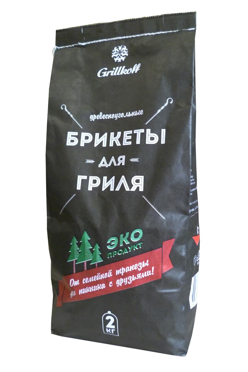 Брикеты для гриля Grillkoff, древесноугольные, 2 кг4Древесноугольные брикеты Grillkoff предназначены для быстрого и качественного приготовления разнообразных блюд в мангалах и гриля. Преимущество: не дает пламени, обладает высокой теплоотдачей, не выделяет канцерогенных веществ. Любые идеи для любого случая: от семейной трапезы до пикника с друзьями, любые блюда на вкус: грили из мяса, рыбы, птицы, изысканные вегетарианские блюда и овощи вы приготовите за считанные минуты с высоким гастрономическим эффектом.