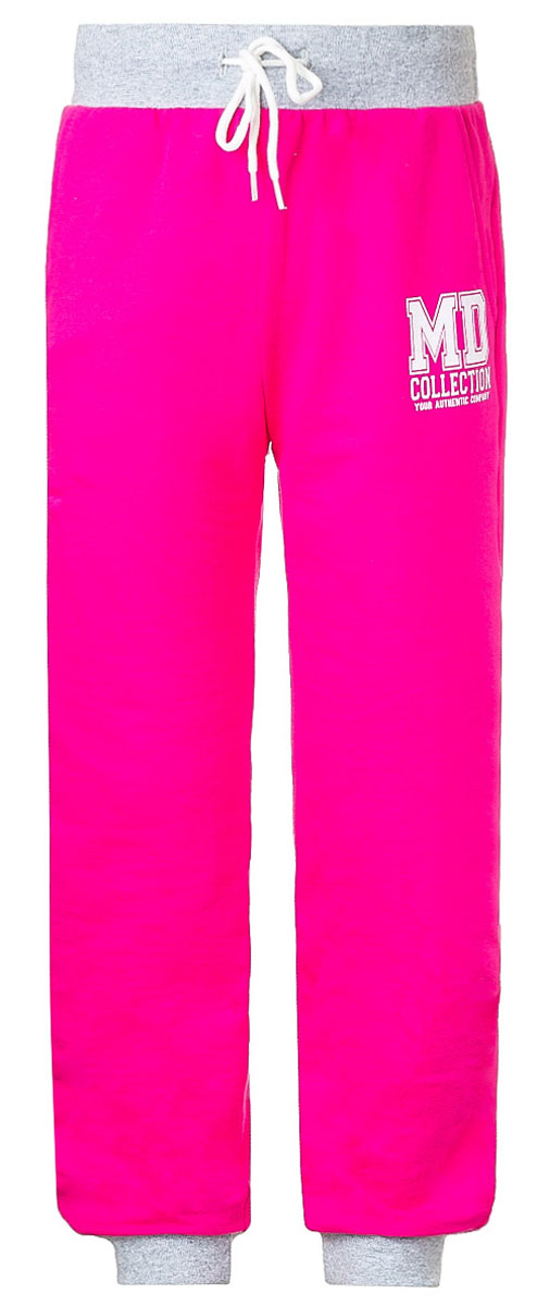 Брюки спортивные для девочки M&D, цвет: малиновый, серый меланж. WJJ26037M-6. Размер 98 брюки спортивные мужские quiksilver цвет темно серый меланж eqyfb03059 ktfh размер m 48