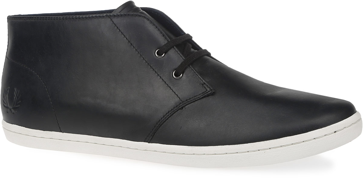 Купить Ботинки мужские Fred Perry Byron Mid Leather, цвет: черный. B9081-102. Размер 9, 5 (43)