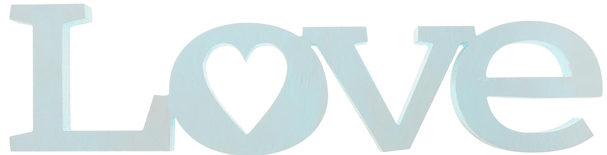 Табличка декоративная Magellanno Love2, цвет: бирюзовый, 56 х 15 см