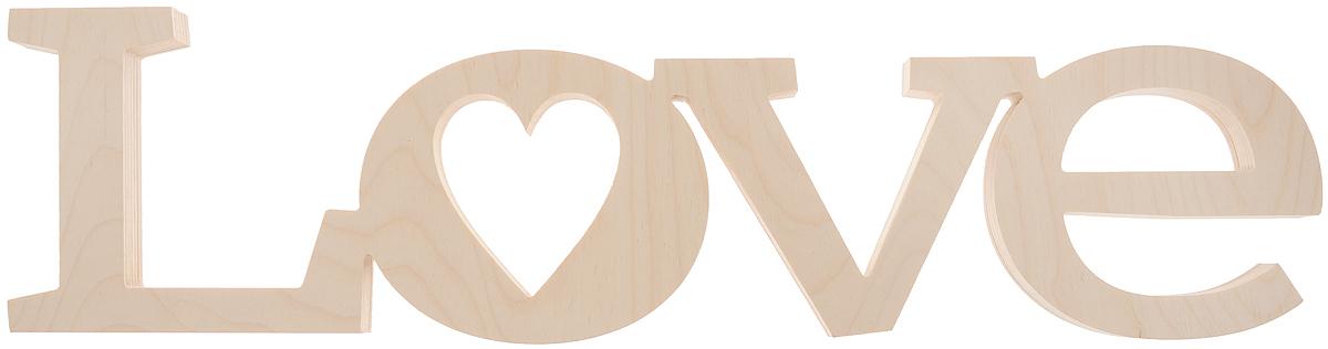 "Табличка декоративная Magellanno ""Love2"", некрашеная, 56 х 15 см"