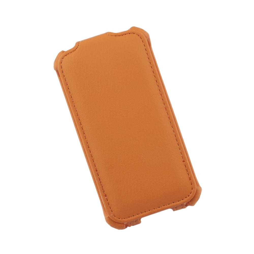 Liberty Project чехол-флип для Apple iPhone 4/4S, Orange0L-00002586Флип-чехол Liberty Project для Apple iPhone 4/4S надежно защищает ваш смартфон от внешних воздействий, грязи, пыли, брызг. Он также поможет при ударах и падениях, не позволив образоваться на корпусе царапинам и потертостям. Обеспечивает свободный доступ ко всем разъемам и элементам управления.