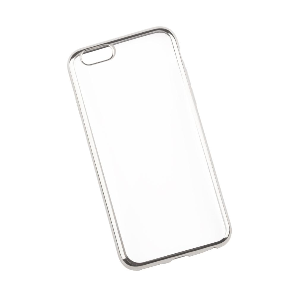 Liberty Project чехол для Apple iPhone 6/6s, Clear Silver0L-00027377Чехол Liberty Project для Apple iPhone 6/6s надежно защищает ваш смартфон от внешних воздействий, грязи, пыли, брызг. Он также поможет при ударах и падениях, не позволив образоваться на корпусе царапинам и потертостям. Чехол обеспечивает свободный доступ ко всем разъемам и кнопкам устройства.