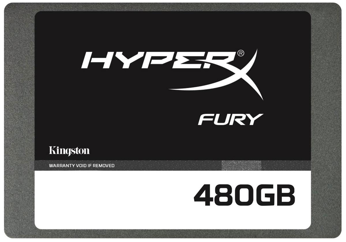 Kingston HyperX Fury 480Gb SSD накопитель (SHFS37A/480G)SHFS37A/480GТвердотельный накопитель Kingston HyperX Fury – это высочайшая производительность по доступной цене: вы сможете быстрее загружать игры, уменьшить время запуска ПК, ускорить загрузку приложений и исполнение файлов.Благодаря контроллеру SandForce SF-2281 с интерфейсом SATA 3.0 (6 Гб/с) и скоростью чтения/записи на уровне 500/500 Мб/с, вы сможете быстрее загружать игровые карты и новые уровни с увеличенной частотой обновления кадров.Твердотельный накопитель HyperX Fury поддерживает емкость от 120 до 480 Гб и имеет тонкий форм-фактор (7 мм), что позволяет использовать его с большинством стандартных разъемов (2,5) мобильных ПК.Твердотельные накопители - это следующий шаг в эволюции устройств хранения данных ПК, они работают быстрее, бесшумнее и выделяют меньше тепла по сравнению с устаревшими жесткими дисками. Благодаря отсутствию движущихся деталей SSD также прочнее и надежнее жестких дисков.Рейтинг PCMark Vantage HDD Suite: 57000Скорость передачи данных накопителя по PCMark 8: 200 МБ/сСуммарное число записываемых байтов (TBW): 750 Тб 1,45 DWPD