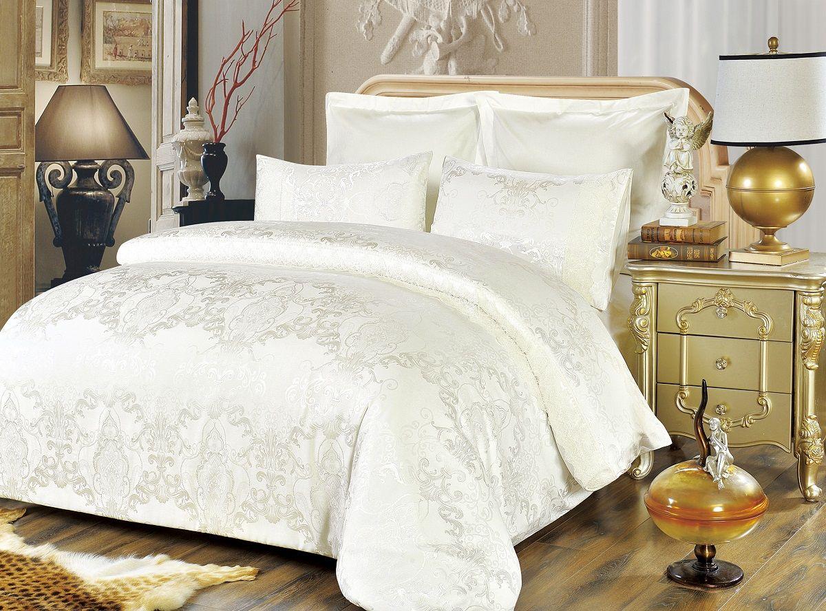 Комплект белья Modalin, 2-спальный, наволочки 50х70, 70x70. 50635063Комплект постельного белья Modalin, выполненный из сатина (100% хлопка), создан для комфорта и роскоши. Комплект состоит из пододеяльника, простыни и 4 наволочек. Постельное белье оформлено оригинальным орнаментом и кружевом. Пододеяльник застегивается на молнию, что позволяет одеялу не выпадать из него.Сатин - хлопчатобумажная ткань полотняного переплетения, одна из самых красивых, прочных и приятных телу тканей, изготовленных из натурального волокна. Благодаря своей шелковистости и блеску сатин называют хлопковым шелком.