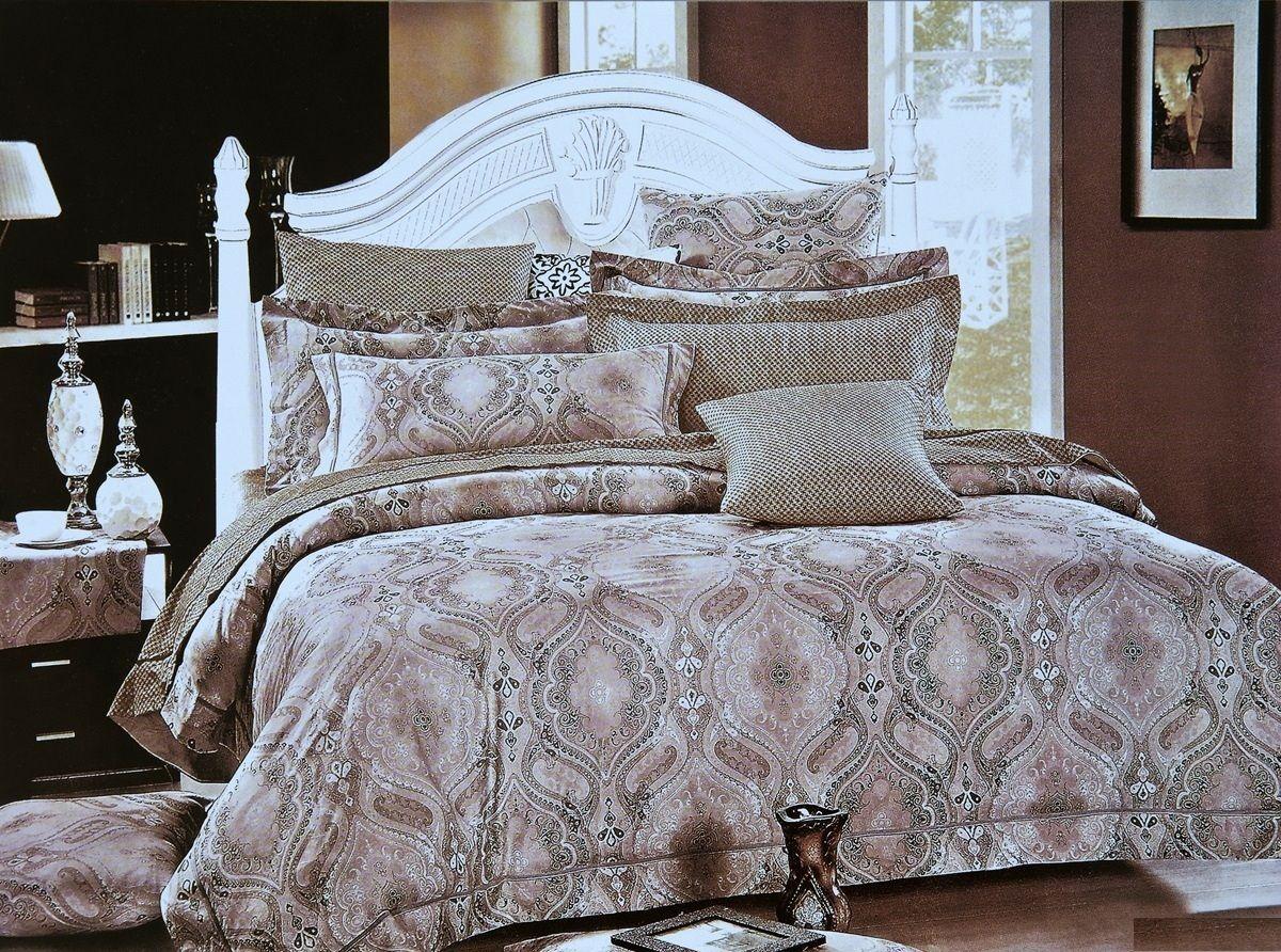 Комплект белья Modalin Decol, 2-спальный, наволочки 50х70, 70x70464/8Комплект постельного белья Modalin, выполненный из сатина (100% хлопка), создан для комфорта и роскоши. Комплект состоит из пододеяльника, простыни и 4 наволочек. Постельное белье оформлено оригинальным орнаментом. Пододеяльник застегивается на пуговицы, что позволяет одеялу не выпадать из него.Сатин - хлопчатобумажная ткань полотняного переплетения, одна из самых красивых, прочных и приятных телу тканей, изготовленных из натурального волокна. Благодаря своей шелковистости и блеску сатин называют хлопковым шелком.