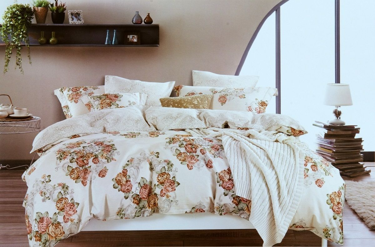 Комплект белья Modalin Florka, 2-спальный, наволочки 50х70, 70x70464/9Комплект постельного белья Modalin, выполненный из сатина (100% хлопка), создан для комфорта и роскоши. Комплект состоит из пододеяльника, простыни и 4 наволочек. Постельное белье оформлено цветочным орнаментом. Пододеяльник застегивается на пуговицы, что позволяет одеялу не выпадать из него.Сатин - хлопчатобумажная ткань полотняного переплетения, одна из самых красивых, прочных и приятных телу тканей, изготовленных из натурального волокна. Благодаря своей шелковистости и блеску сатин называют хлопковым шелком.