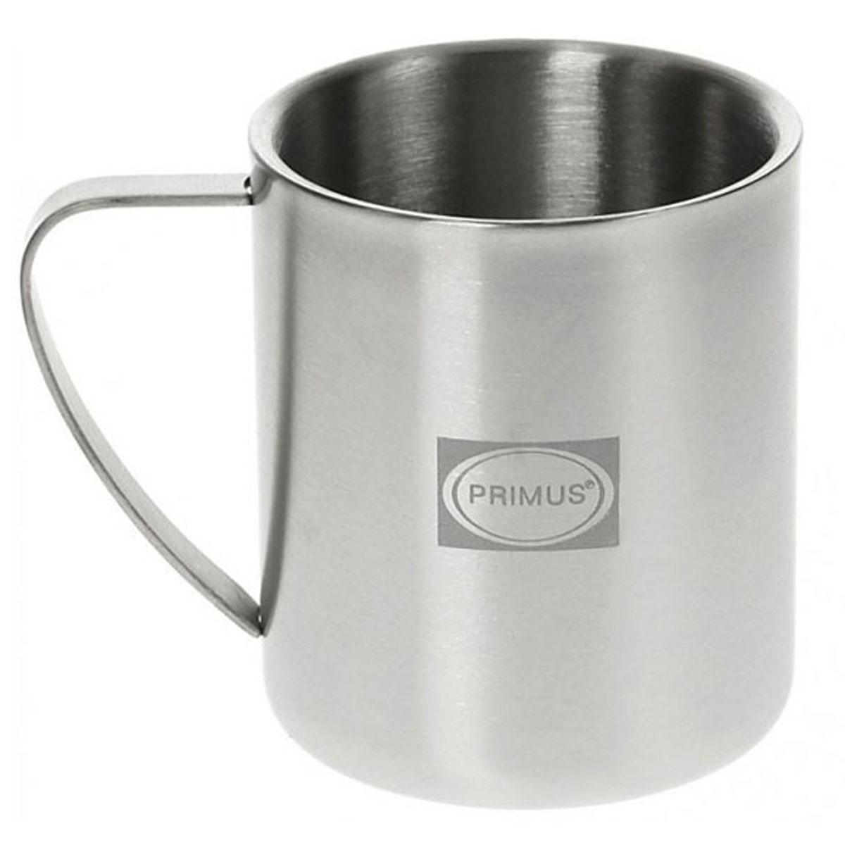 Термокружка Primus 4-Season Mug, цвет: серый, 300 мл732260Прочная кружка с двойными стенками из полированной высококачественной нержавеющей стали