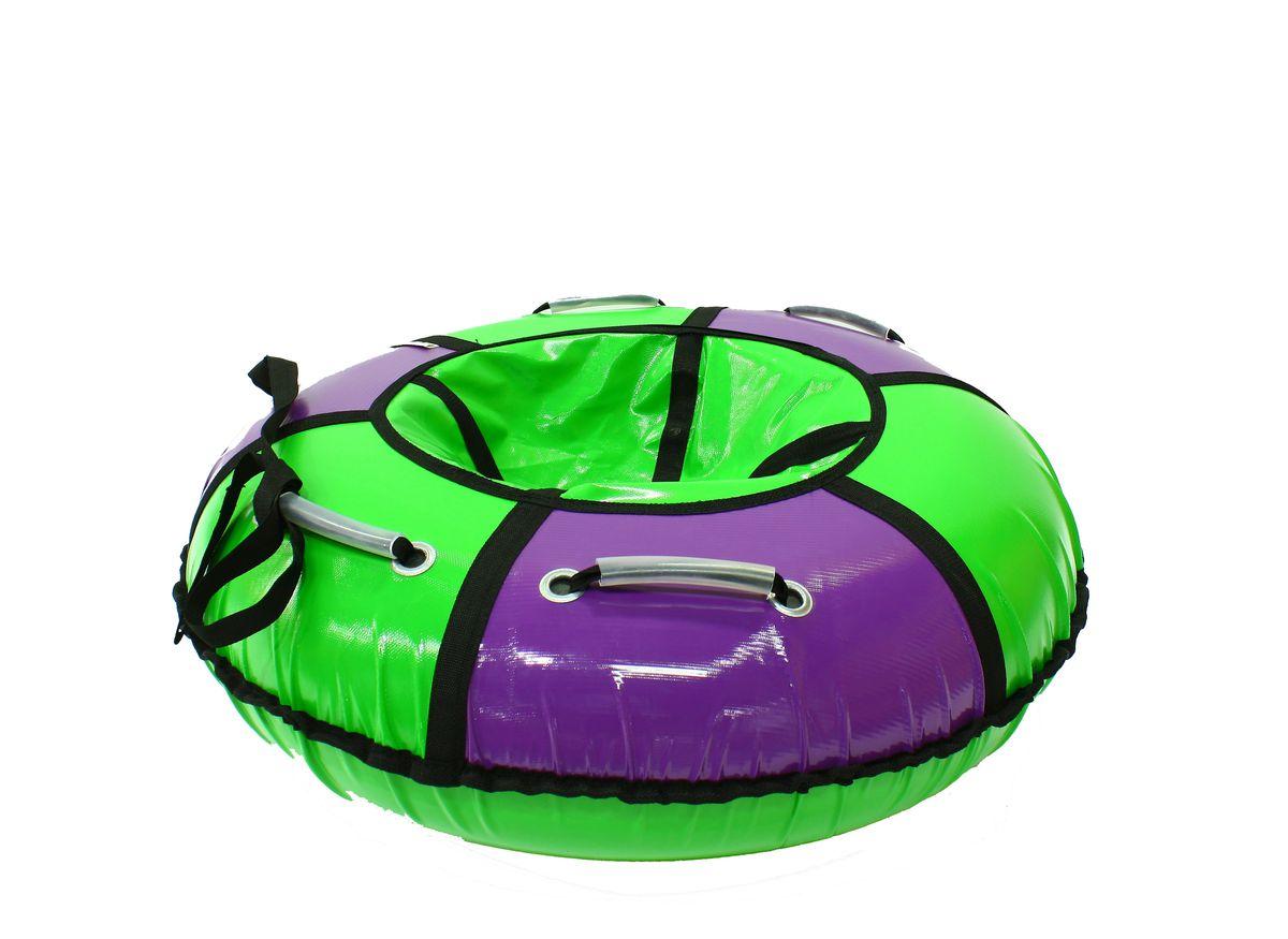 Тюбинг Hubster Классик, цвет: сиреневый, зеленый, диаметр 90 смво2554-5