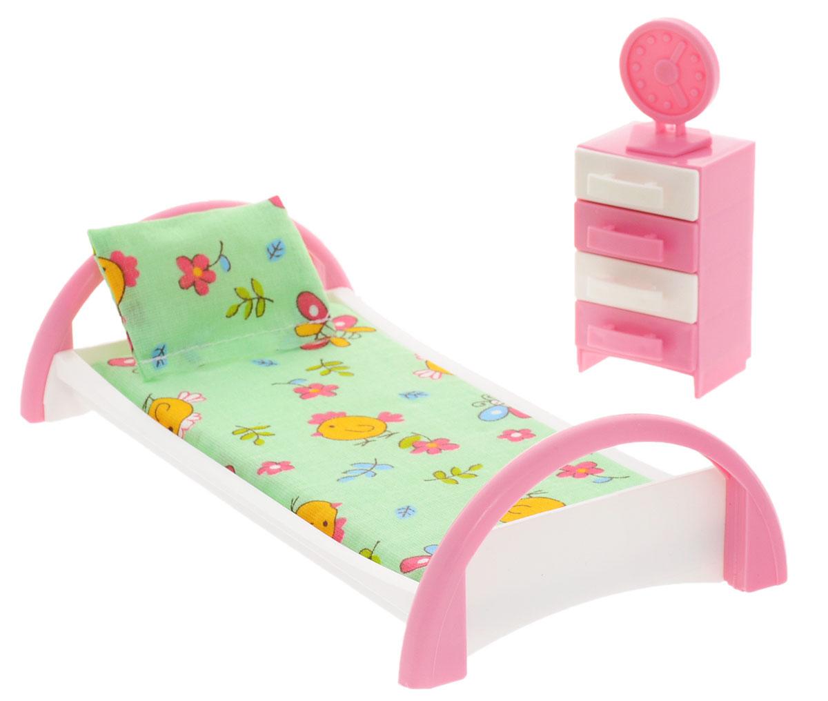 Форма Набор мебели для кукол Кровать с тумбочкой цвет зеленый как паралон для мебели в уфе