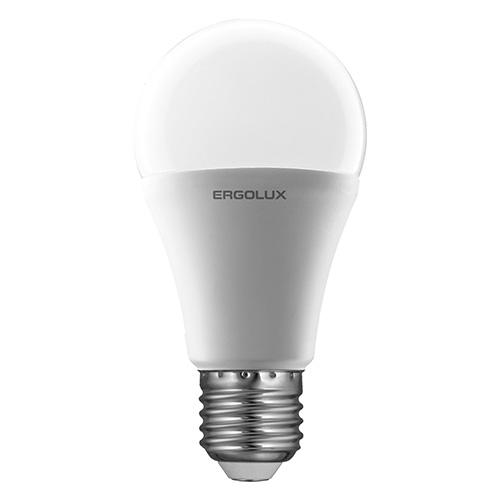 Лампа светодиодная Ergolux LED-A60, холодный свет, цоколь E27, 12 Вт12151Светодиодная лампа Ergolux LED-A60 - новое решение в светотехнике. Такая лампа экономит много электроэнергии благодаря низкой потребляемой мощности. Она идеально подходит для основного и акцентного освещения интерьеров, витрин, декоративной подсветки. Кроме того, светодиодная лампа создает уютную атмосферу и позволяет экономить электроэнергию уже с первого дня использования.
