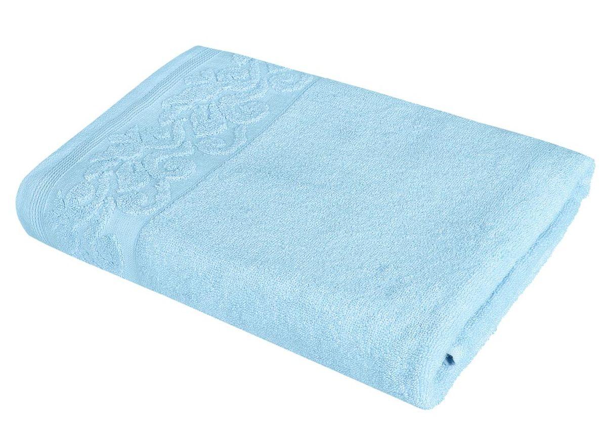 Полотенце Soavita Белла, цвет: бирюзовый, 48 х 90 см полотенце кухонное soavita цвет светло зеленый 40 х 60 см 48803