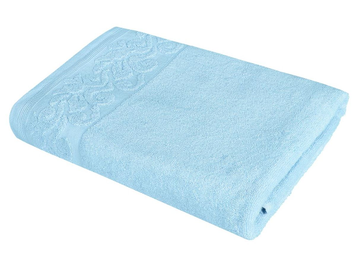 Полотенце Soavita Белла, цвет: бирюзовый, 68 х 135 см полотенце кухонное soavita цвет светло зеленый 40 х 60 см 48803