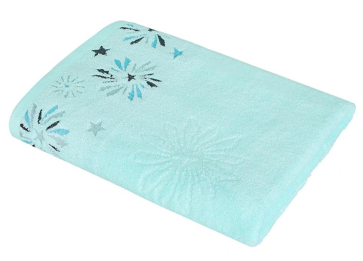 Полотенце Soavita Фелиция, цвет: бирюзовый, 48 х 90 см полотенце кухонное soavita цвет светло зеленый 40 х 60 см 48803
