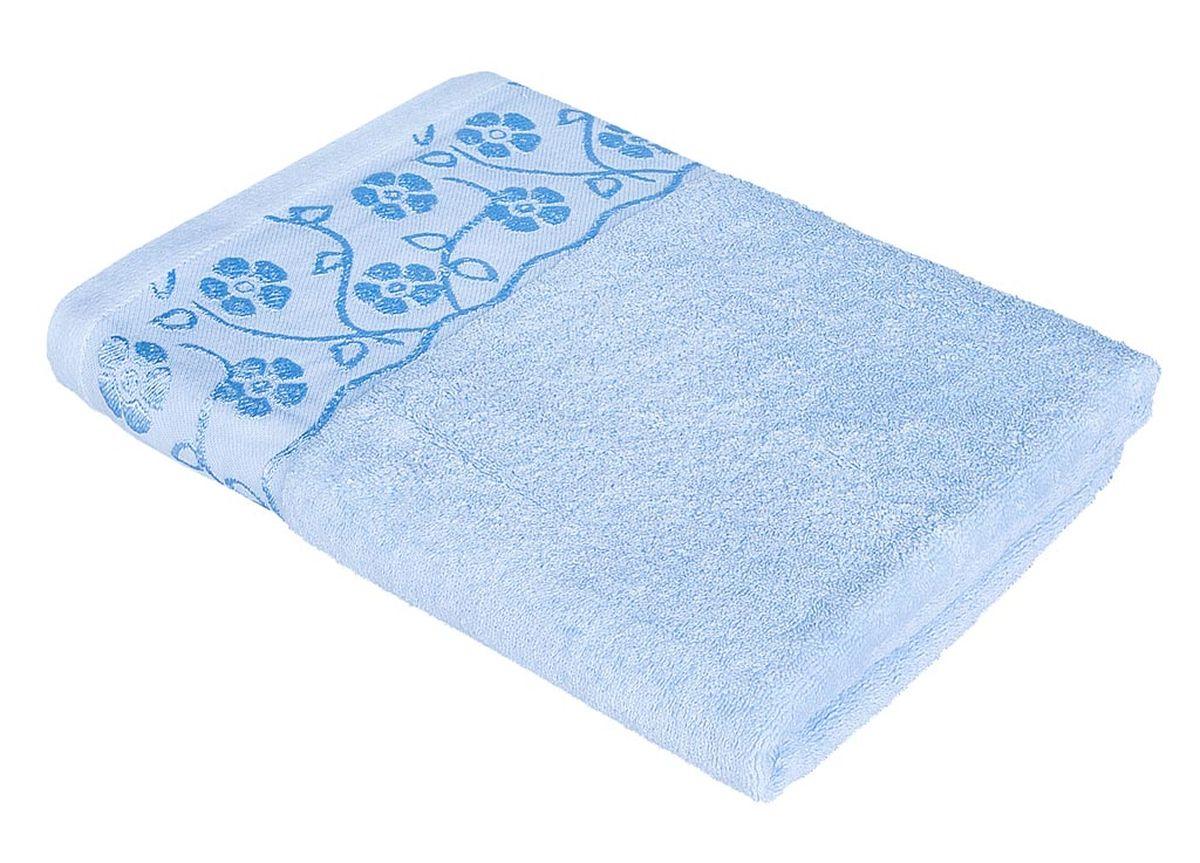 Полотенце Soavita Ванесса, цвет: голубой, 48 х 90 см полотенце кухонное soavita цвет светло зеленый 40 х 60 см 48803