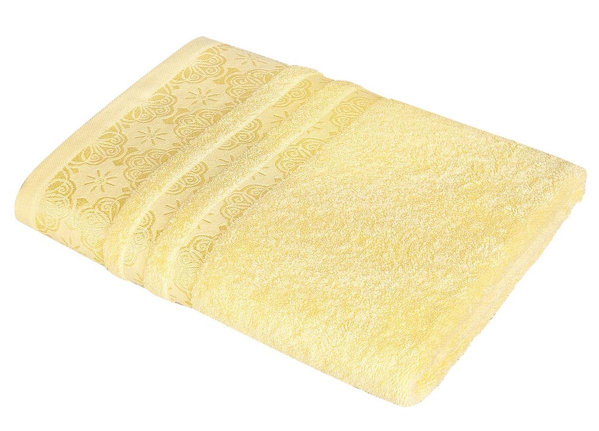 Полотенце Soavita Орнамент, цвет: желтый, 48 х 90 см полотенце кухонное soavita цвет светло зеленый 40 х 60 см 48803