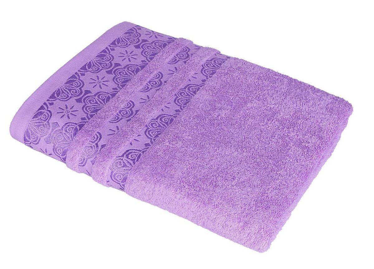 Полотенце Soavita Орнамент, цвет: сиреневый, 48 х 90 см полотенца soavita полотенце nancy цвет белый 50х90 см