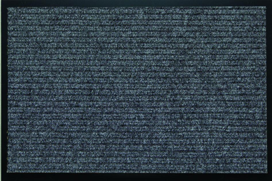Коврик придверный SunStep Ребристый, влаговпитывающий, цвет: серый, 80 х 120 см коврик домашний sunstep цвет кремовый 100 х 200 х 4 см
