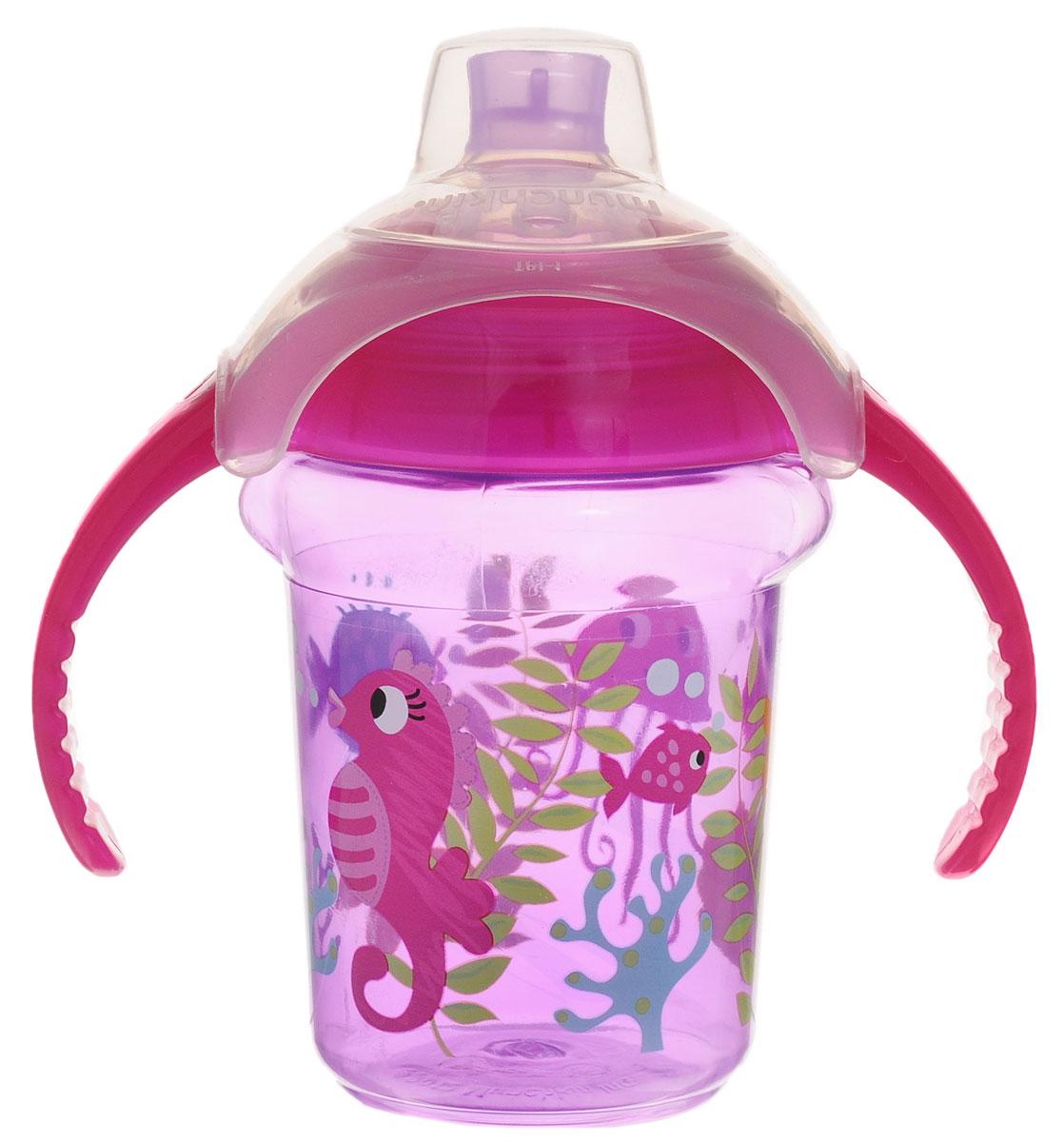 Фото Munchkin Чашка-поильник Click Lock от 6 месяцев цвет фиолетовый 207 мл