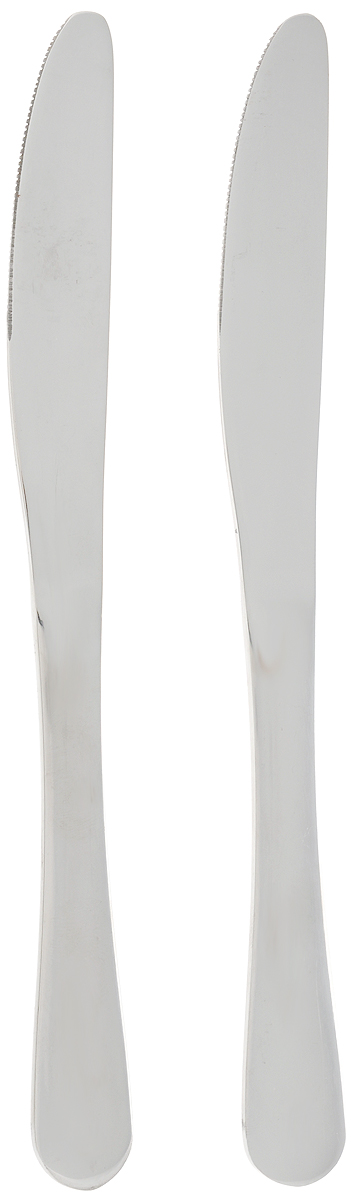 """Набор """"House & Holder"""" состоит из двух ножей, выполненных из  коррозионностойкой стали.  Столовые ножи """"House & Holder"""" прекрасно подходят для  сервировки стола, как в домашнем быту, так и в  профессиональных заведениях - кафе, ресторанах. Длина ножа: 21 см. Длина лезвия: 6 см."""