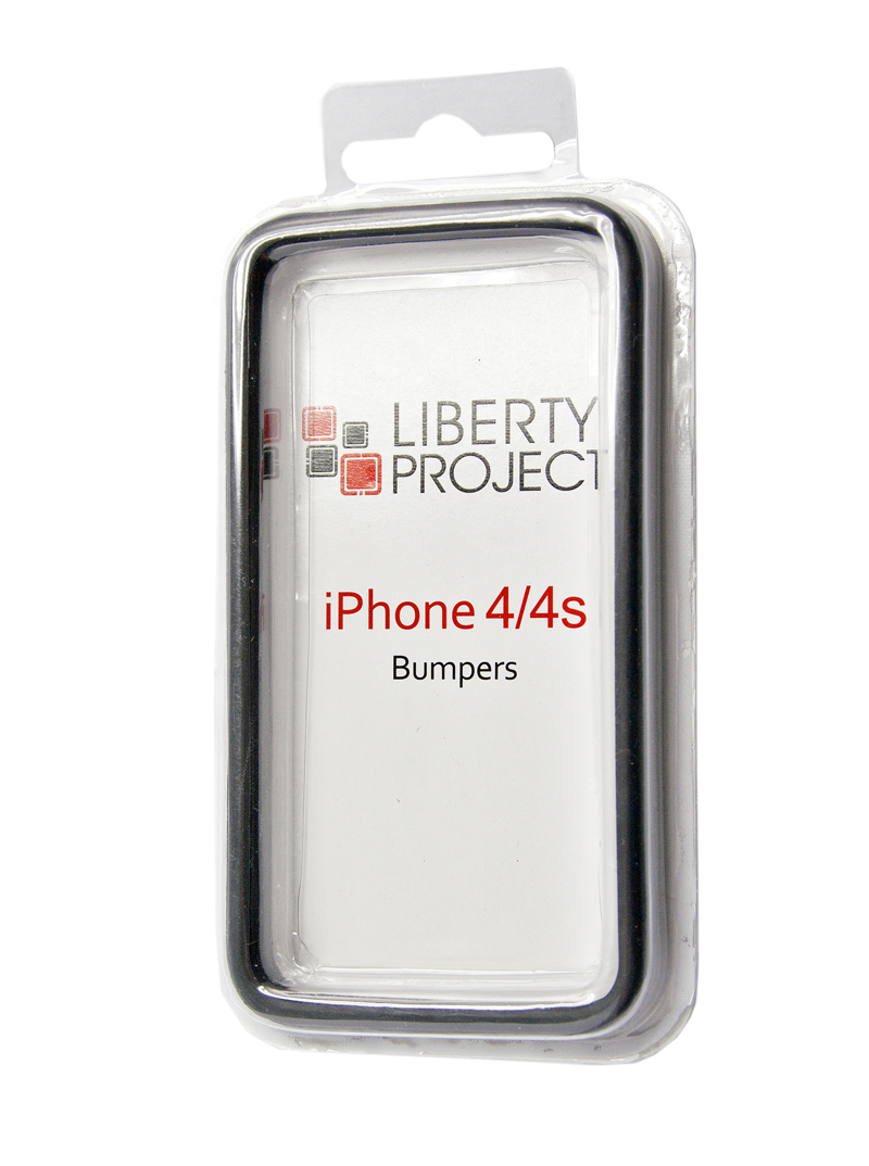 Liberty Project Bumpersчехол для Apple iPhone 4/4S, Black Liberty Project