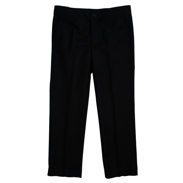 Брюки для мальчика PlayToday, цвет: черный. 461008. Размер 104461008Классические брюки для мальчика выполнены из комфортного материала. Модель прямого кроя со стрелками застегивается на молнию и пуговицу, пояс на резинке для лучшей посадки. Изделие дополнено тремя функциональными карманами: двумя втачными спереди и одним прорезным на пуговке сзади.