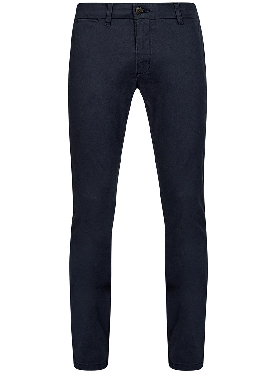 Брюки мужские oodji Basic, цвет: темно-синий. 2B150021M/44468N/7900N. Размер 40-182 (48-182) сборная модель моделист ориана 150021