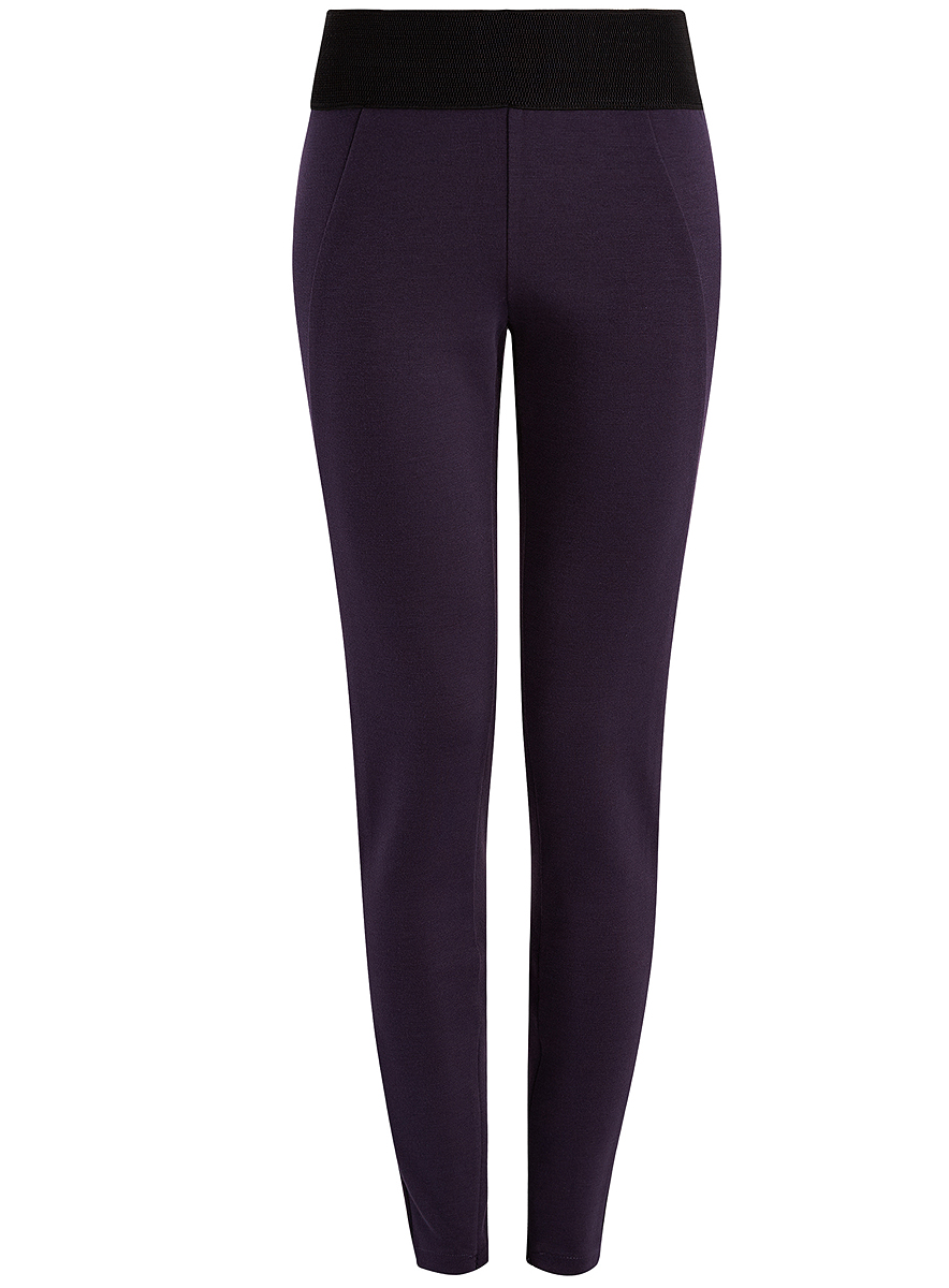 Брюки женские oodji Collection, цвет: фиолетовый. 28701001/37854/8800N. Размер XS (42) пуловеры oodji пуловер