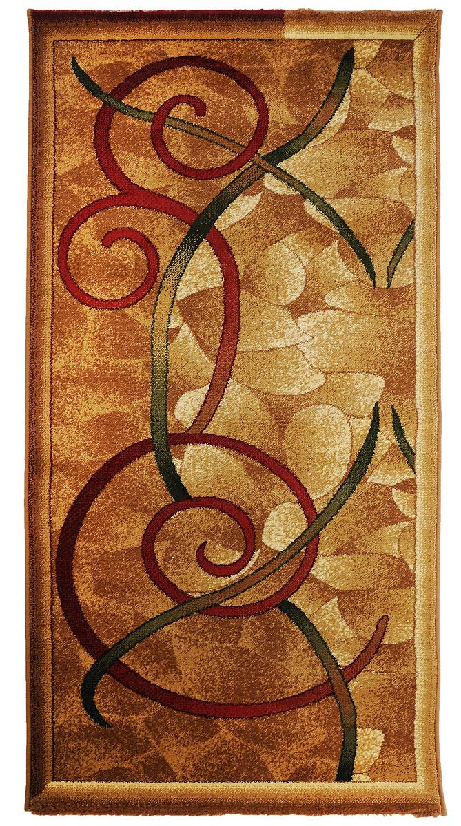 Ковер Kamalak Tekstil, прямоугольный, цвет: кремовый, зеленый, красный, 80 x 150 см. УК-0051УК-0051Ковры-паласы выполнены из полипропилена. Ковры обладают хорошими показателями теплостойкости и шумоизоляции. Являются гиппоалергенными. За счет невысокого ворса ковры легко чистить. Вам придется по душе широкая гамма цветов и возможность гармонично оформить интерьер. Практичный и устойчивый к износу ворс - от постоянного хождения не истирается, не накапливает статическое электричество. Структура волокна в полипропиленовых моделях гладкая, поэтому грязь не может выесться, на ворсе она скапливается с трудом. Полипропилен не впитывает влагу, отталкивает водянистые пятна. Уход: Самый простой способ избавить изделие от грязи – пропылесосить его с обеих сторон (лицевой и изнаночной).Влажная уборка с применением шампуней и моющих средств не противопоказана. Если шерсти и шёлку универсальные чистящие составы не подходят, то для синтетики они придутся в самый раз.Хранить их нужно рулоном, не складывая «салфеткой».При надлежащем уходе синтетический ковёр прослужит долго, не утратив ни яркости узора, ни блеска ворса, ни его упругости.