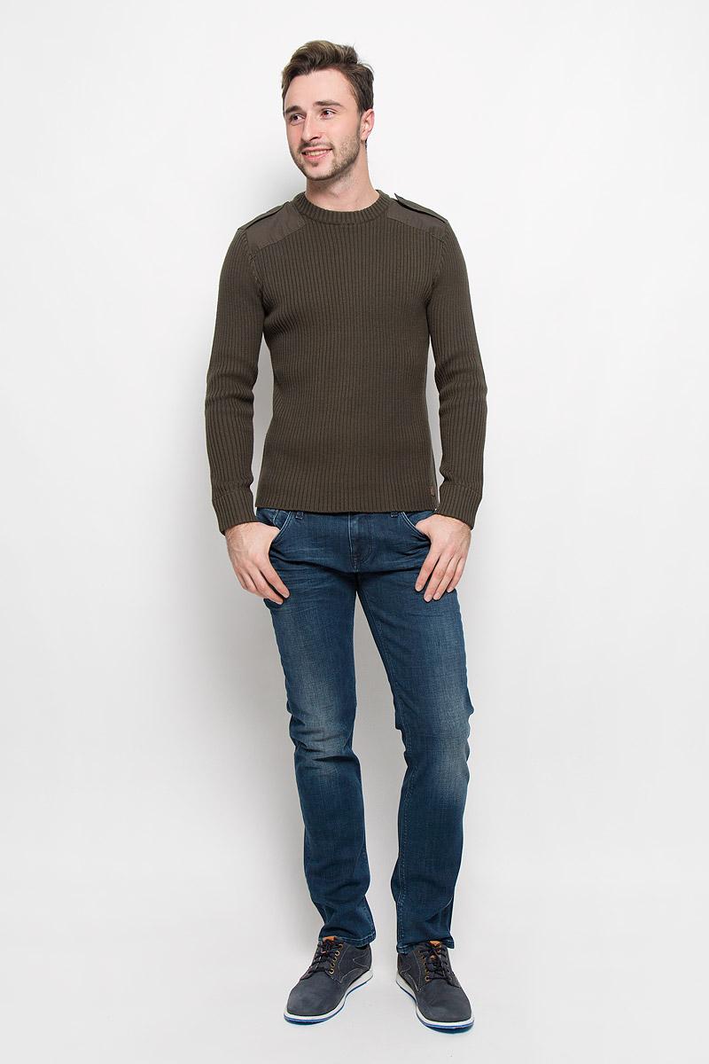 цена Джемпер мужской Mexx, цвет: темно-зеленый. MX3023806_MN_PLV_008. Размер M (50) онлайн в 2017 году